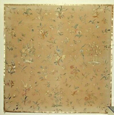 Superb Antique Chinese Embroidered Silk Qing Dynasty Embroidery Panel