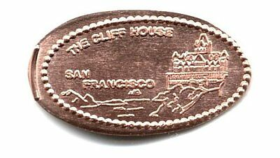 *Copper* San Francisco - The Cliff House (1) made with unc pre82 copper cents