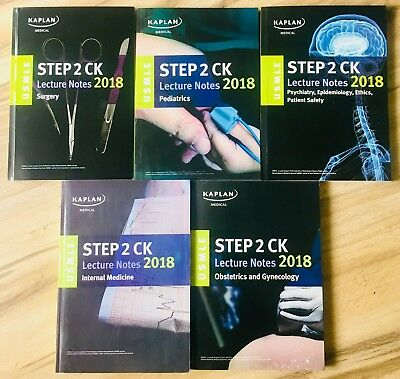 Kaplan USMLE Step 2 CK Lecture Notes 2018 New Free Shipping FAST 2 Days  Priority