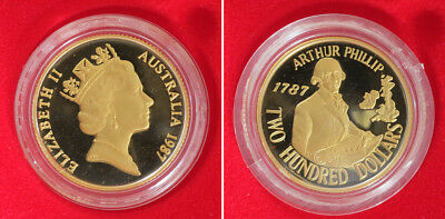 1987 Australian Proof Gold $200 Coin ~ Low Mintage