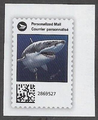 "Canada Post Admail: Canada Post ""Sharks""  2018 Cut Square - dw337s"