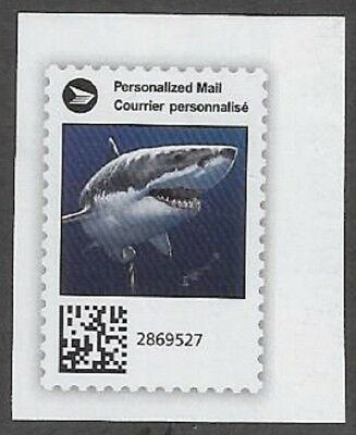 "Canada Post Admail: Canada Post ""Sharks""  2018 Cut Square - dw337t"