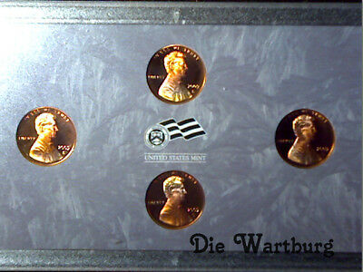 2009 S set of all four Proof Deep cameo Lincoln Cents
