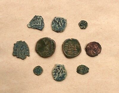 Lot Of 10 Byzantine Bronze Coins. Nice Items!