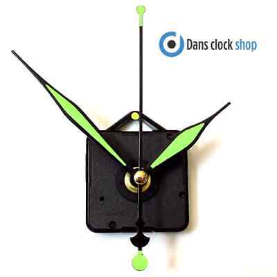 New Quartz Clock Movement Mechanism Motor & 90mm Luminous Metal Hands - fittings
