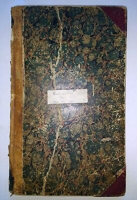 ANTIQUE FIREFIGHTING Taunton MA Fire Dept Handwritten Ledger/Diary/Log Book 1876