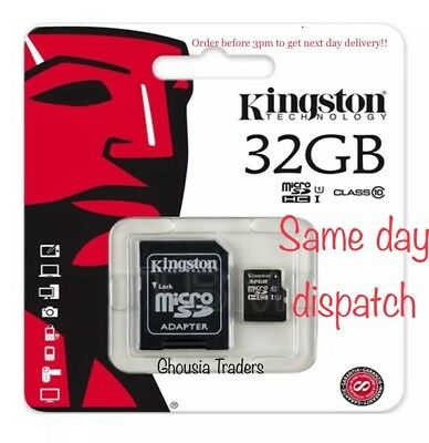32Gb New Kingston Micro Sd Sdhc Memory Card Class 10 With Adapter 32Gb Uk Seller