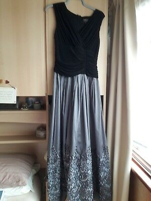Size 14 stunning ballgown or prom dress by Ignite in black and grey with sequins