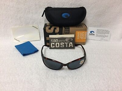 fb9e25dad8 NEW Costa Del Mar Harpoon Polarized Sunglasses Tortoise Blue 580P HR 10  OBMP 580