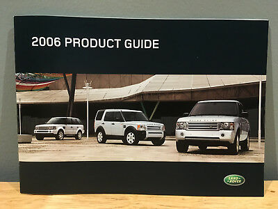 2006 Land Rover Full Line Product Guide Brochure
