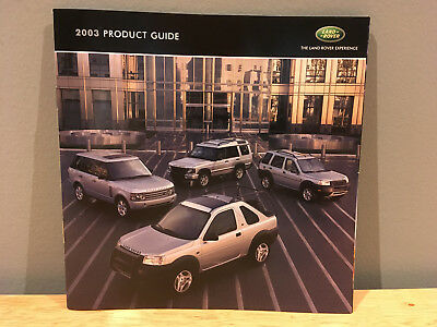 2003 Land Rover Full Line Product Guide Brochure