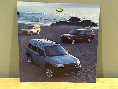 2002 Land Rover Full Line Product Guide Brochure