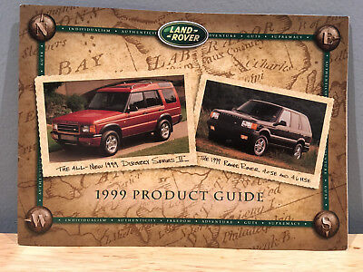 1999 Land Rover Full Line Product Guide Brochure