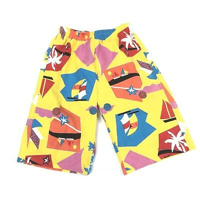 Vintage Shorts Crazy All Over Print Sail Boats Fresh Prince Abstract Size Medium