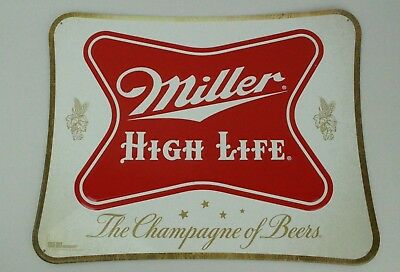MHL Miller High Life Retro Embossed Metal Tin Beer Bar Pub Sign Official