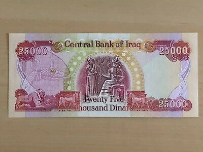 MAKE OFFER~IRAQI DINAR IQD 25000 AUNC BankNote (Currency)~25,000 Bill~