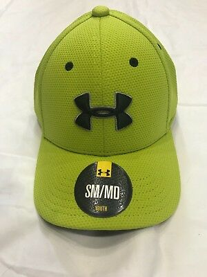 Under Armour Cap, Youth SM/MD, Neon Yellow w/ Black Logo, New w/ Tags, Free ship