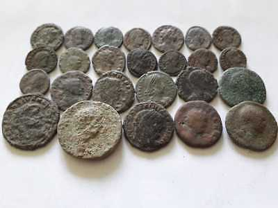 LOT OF A 21 NICE ANCIENT ROMAN CULL COINS UNCLEANED /& EXTRA COINS ADDED....