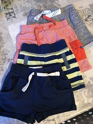 4 x Baby Boys Shorts - Size 3-6 Months