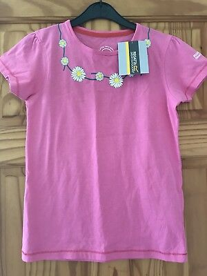 NEW BNWT Girls Regatta Age 11-12 Oink Tshirt With Embroidered Daisy Chain