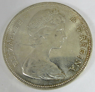 1966 Canadian Elizabeth II 2nd Portrait 80% Silver Dollar $1 No Reserve!