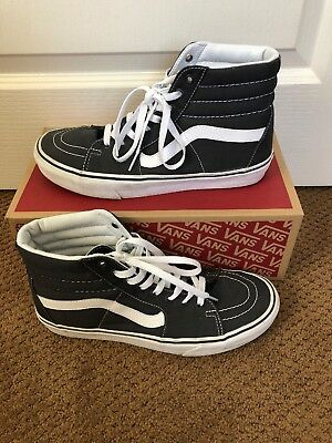 sale retailer f426b 31220 Mens Canvas Vans Sk8 Hi High Tops Size 10 Gray