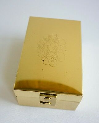 UNUSED! Vintage Rare The Frazer Price Brass Traveling Watercolour Palette Box