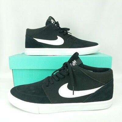 new photos 202f2 50ea1 Nike SB Black shoes mens size 11 Skate board Portmore II Solar Mid New  sneaker