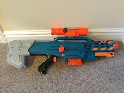 Nerf Zombie Strike Longshot CS-6 With Magazine And Scope - Excellent Condition