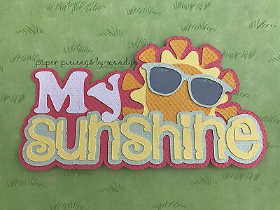 Fully assembled 'My Sunshine' scrapbook title