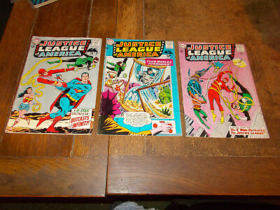 Justice League of America (1960 series)  Run of 3 iss 25 26 27 DC 1964 Ave VG-