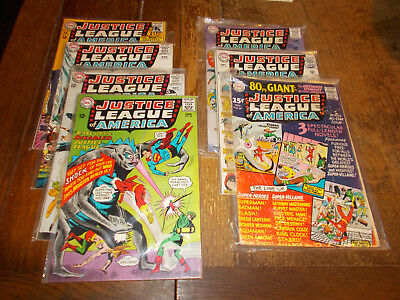 Justice League of America (1960 series)  Full run 7 iss 33 - 39 DC 1965 Ave VG