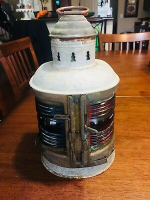 Nice! Authentic Brass Metal Perkins Perko Marine Lantern Port and Starboard