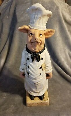 Vintage *chef Pig* Statue By Vicki's Ceramics *18-Inches Tall* Local Pickup Only