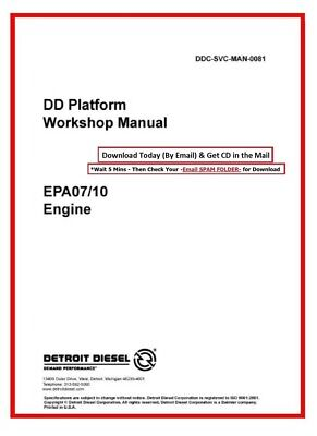 DETROIT DIESEL DD13, DD15, DD16 Exhaust, EGR, Aftertreatment