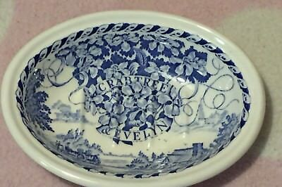 Mason's Crabtree & Evelyn London Blue White Soap Dish Cottage Wagon Flowers T60