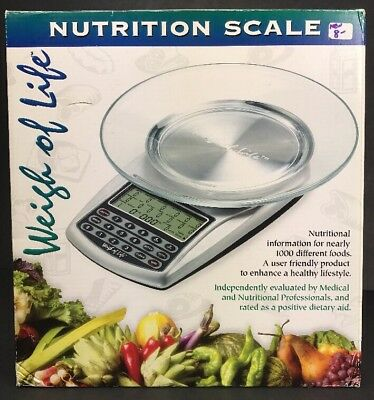 Weigh Of Life Nutrition Scale Digital Nutrition Calorie Counter