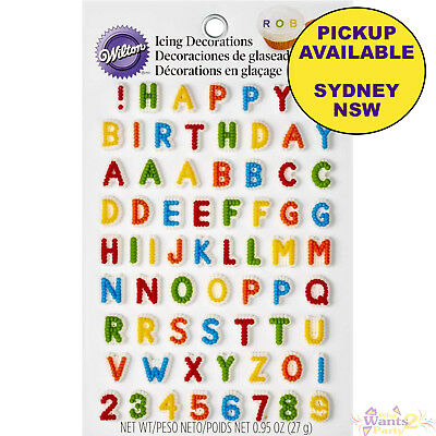 Wilton Party Supplies Letters Numbers Birthday Cake Cupcake Icing Decorations