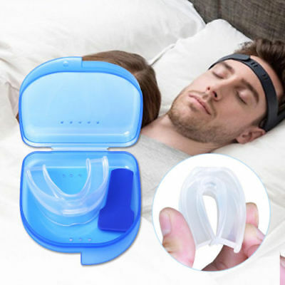 Mouth Guard Stop Teeth Grinding Anti Snoring Bruxism with Case Box Sleep Aid CHL