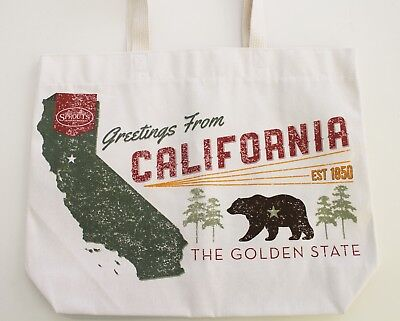 Sprouts Reusable Grocery Tote Bag California Bear Canvas Bag Made in USA
