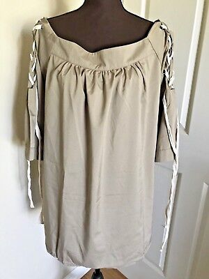 8311b6d6ffe3 Women's Hayden Los Angeles 3/4 Twist Sleeves Brown Blouse Plus Size Top Sz  2XL