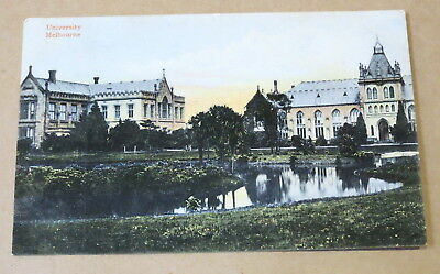 Antique Used Postcard 1905 Melbourne University Real Photo