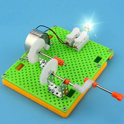 Hand Crank Generator Assemble Toy Science Educational Kit for Kids Student