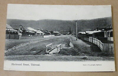 Antique Used Postcard 1913 Harboard Street Thirroul Real Photo #2
