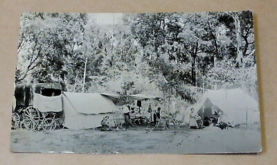 Antique Used Postcard 1915 Australian Bush Camp Real Photo