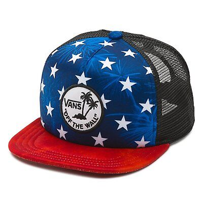 ef32be62aa VANS OFF THE Wall Classic Patch America Red White Blue Trucker Hat ...