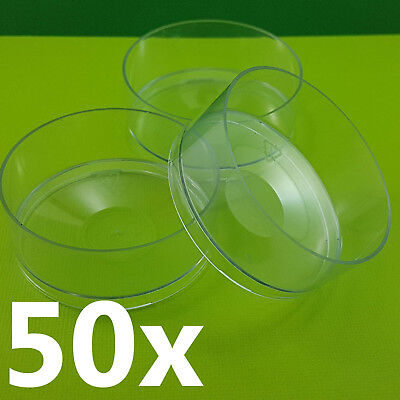 NEW HUGE JUMBO Tea Light Candle Cups x50 Candle Making Supplies Polycarbonate