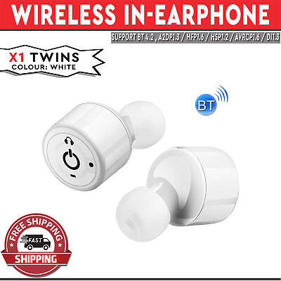 X1 Twins Wireless In-Earphone Earpods Built-in Mic Apple Android Compatible Whit