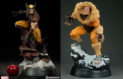 Set Wolverine Brown Costume And Sabretooth Premium Format Sideshow Lobezno