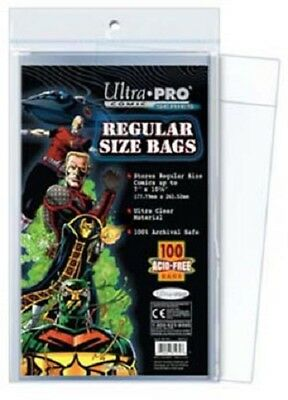 100 Pockets Ultra pro Comics Regular Size Bags 17,70 x 26,30 cm Comic AW2632